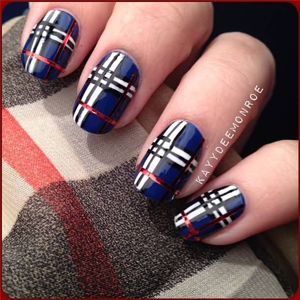 60 Most Beautiful Plaid Design Nail Art Ideas For Trendy Girls