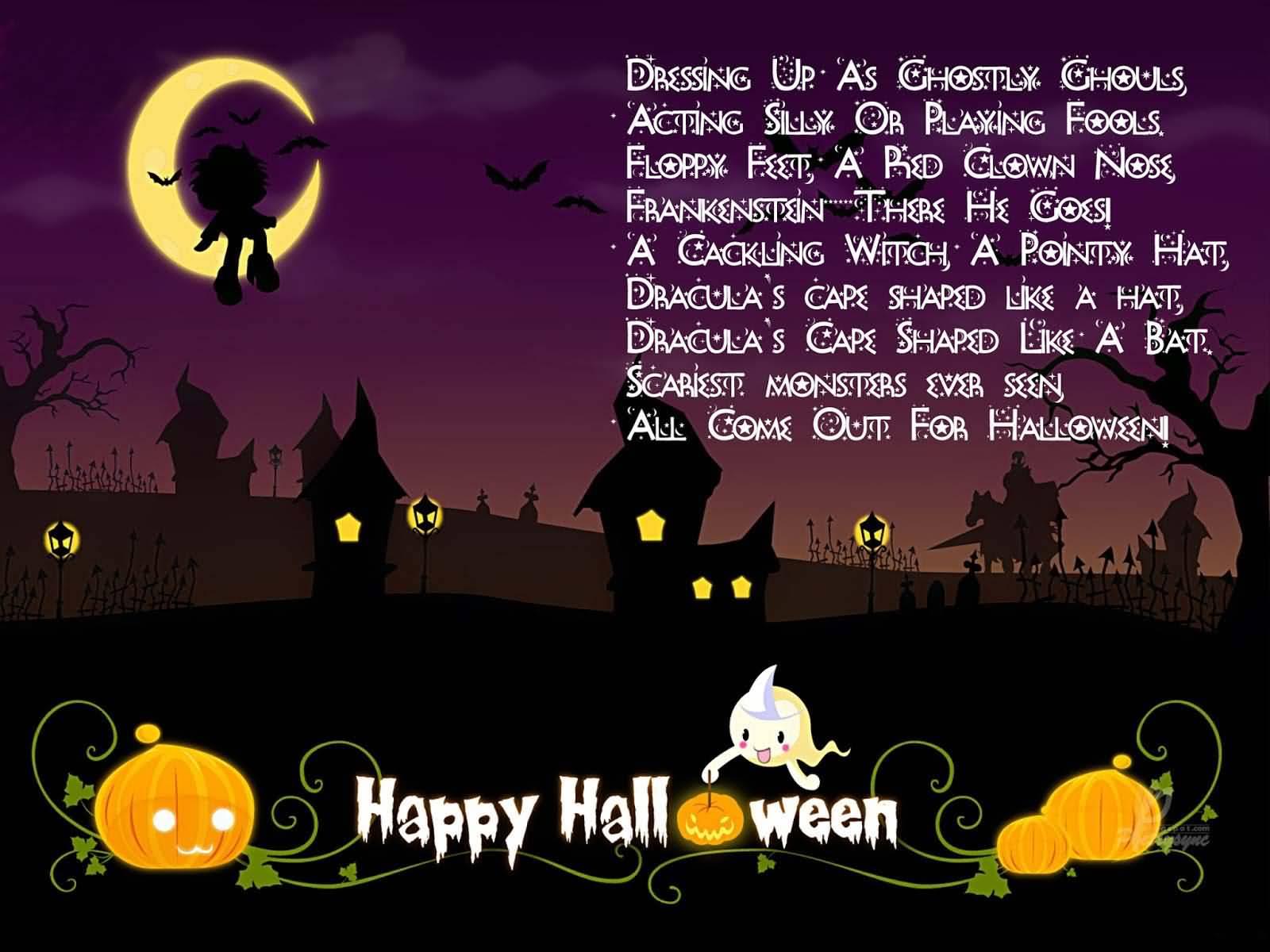 Explain scariest adult halloween poems
