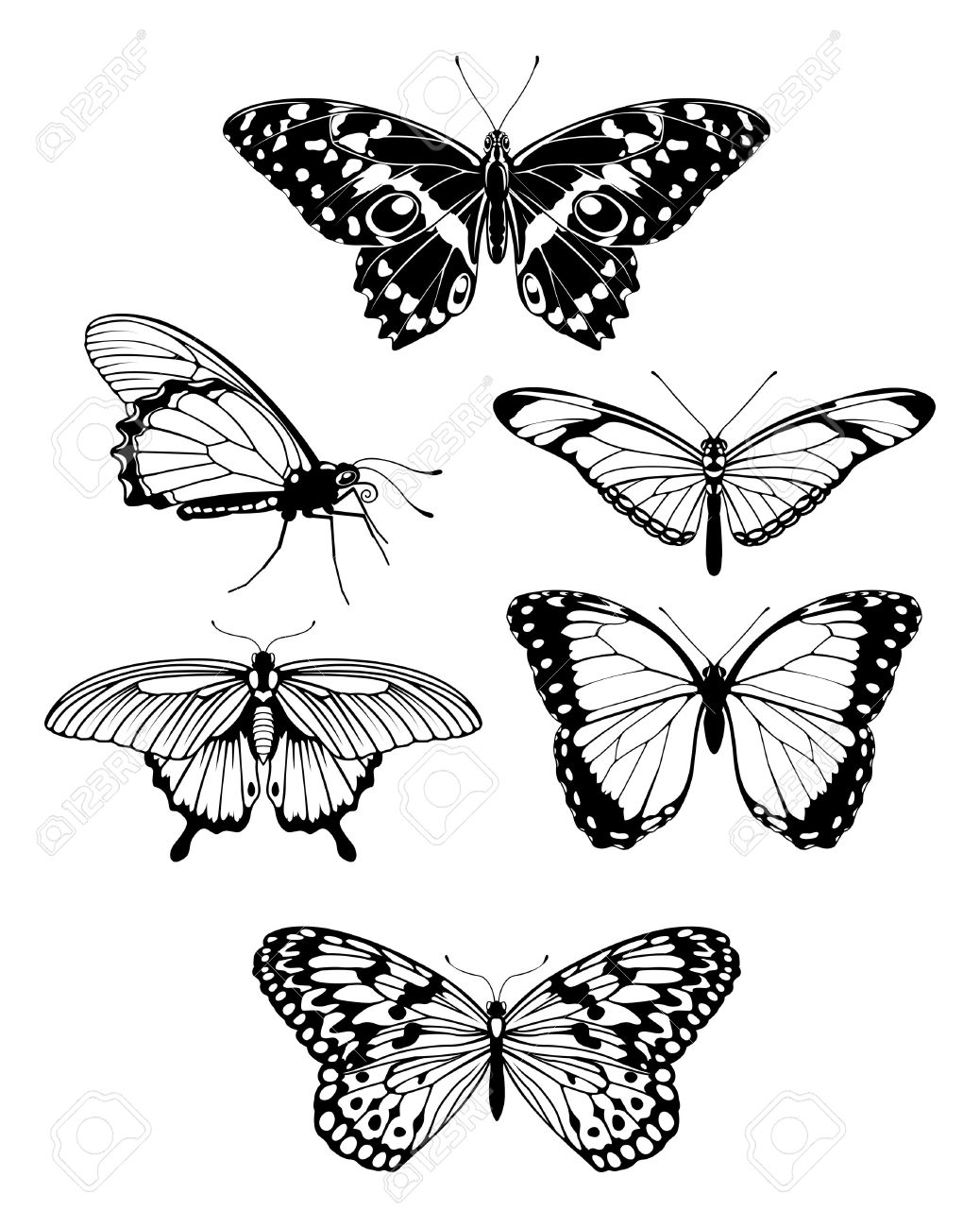 40 latest butterfly tattoo designs samples. Black Bedroom Furniture Sets. Home Design Ideas