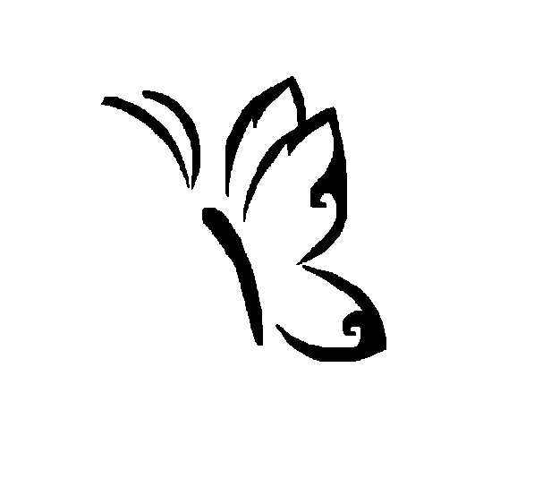 d0bf567e7 Simple Butterfly Tattoo Design By Shamaya Wolf