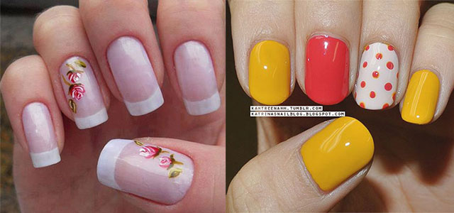 - Simple Spring Nail Art Designs