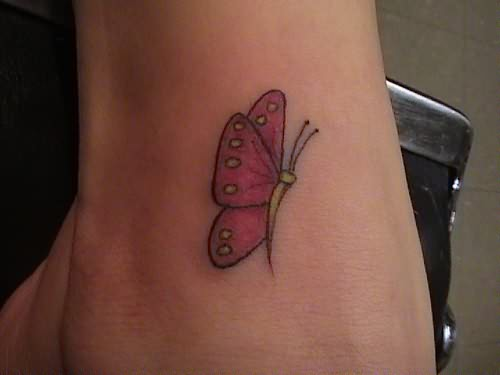 Butterfly Tattoo Ankle