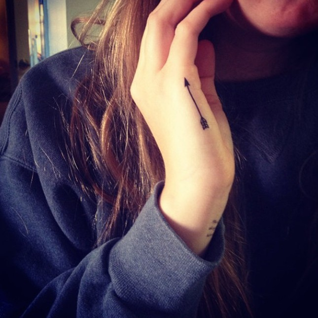 Small Words Both Side Hand Tattoos For Girls