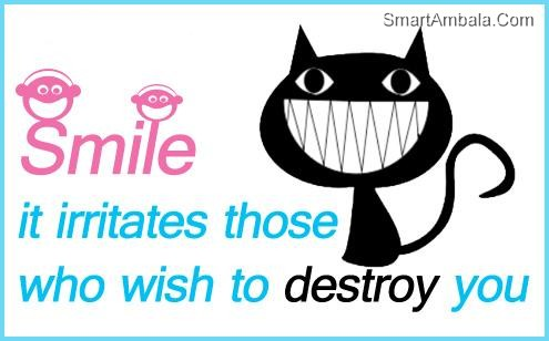 Smile, It Irritates Those Who Wish To Destroy You