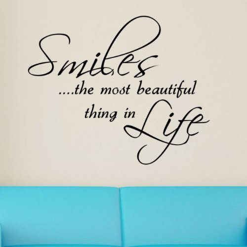 smile is the most beautiful thing in life