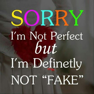 Sorry Im Not Perfect But Im Definitely Not Fake