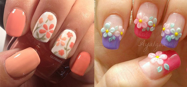 Spring Flowers Nail Art Idea - Spring Nail Design Ideas Picture. Delightful Daisies 17 Gorgeous