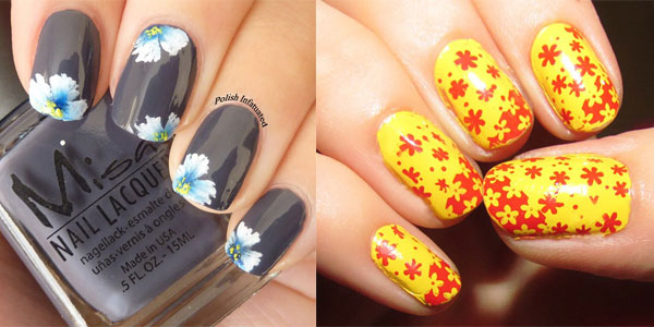 Spring Flowers Nail Designs - 50 Beautiful Spring Nail Art Design Ideas