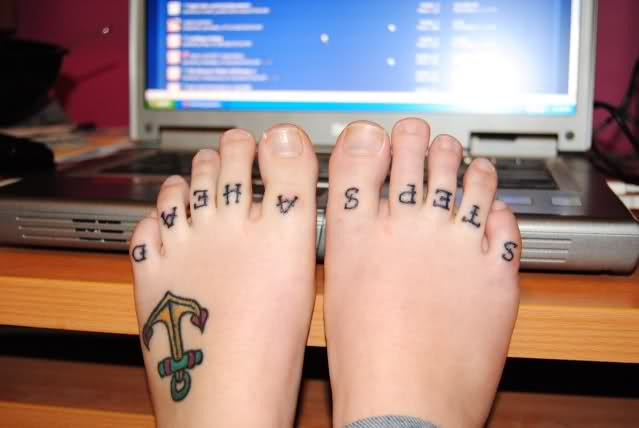 9 Toe Knuckle Tattoos