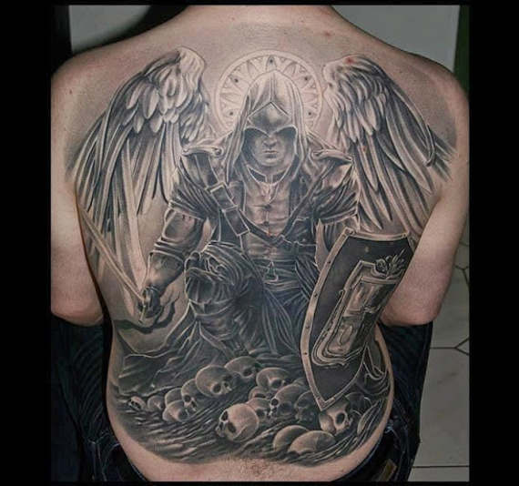 60 best angel tattoos on back