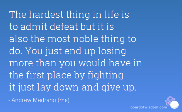 62 Best Defeat Quotes Sayings