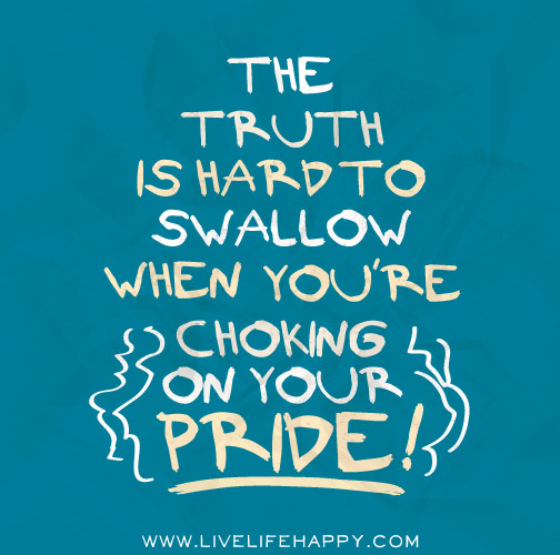 Swallow My Pride Meaning