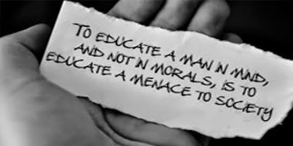 Afbeeldingsresultaat voor To educate a man in mind and not in morals is to educate a menace to society.