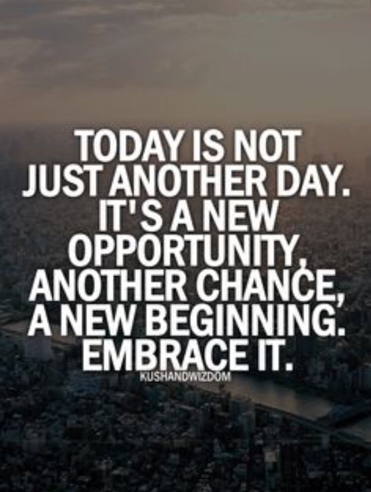 Beautiful Today Is Not Just Another Day. Itu0027s A New Opportunity, Another Chance, A