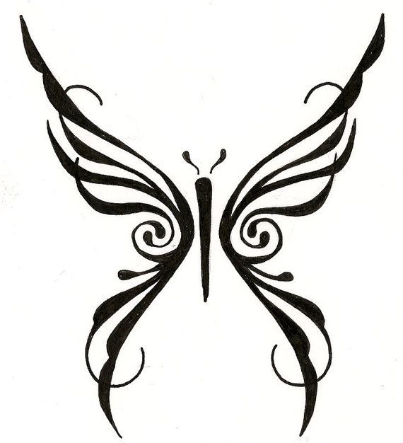 45 tribal butterfly tattoo designs. Black Bedroom Furniture Sets. Home Design Ideas