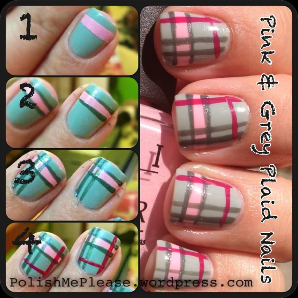 Two Beautiful Plaid Nail Art Idea