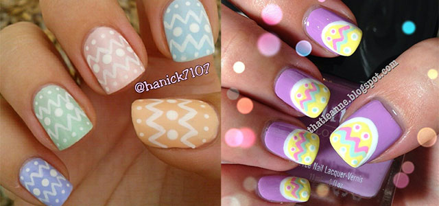 Easy easter nail art step by step : Most beautiful easter nail art design ideas
