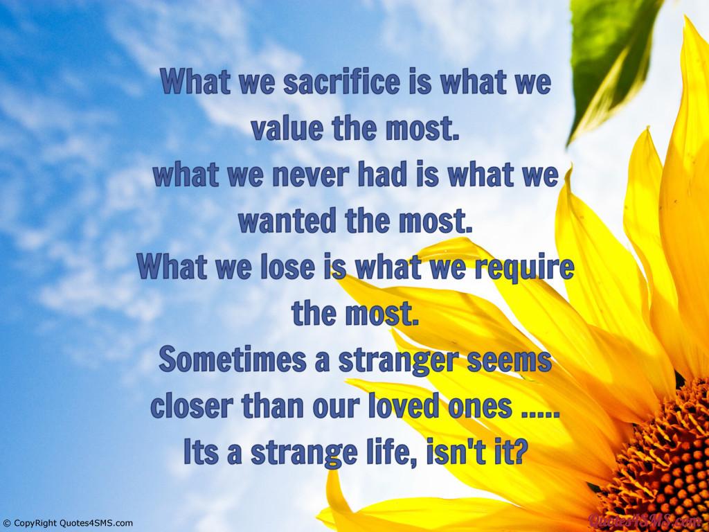Life Sacrifice Quotes 62 Top Sacrifice Quotes & Sayings