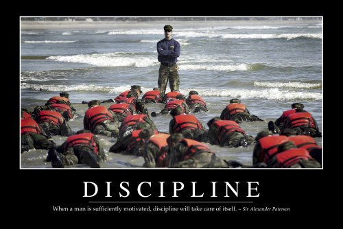 When a man is sufficiently motivated, discipline will take care of itself. Sir Alexander Paterson