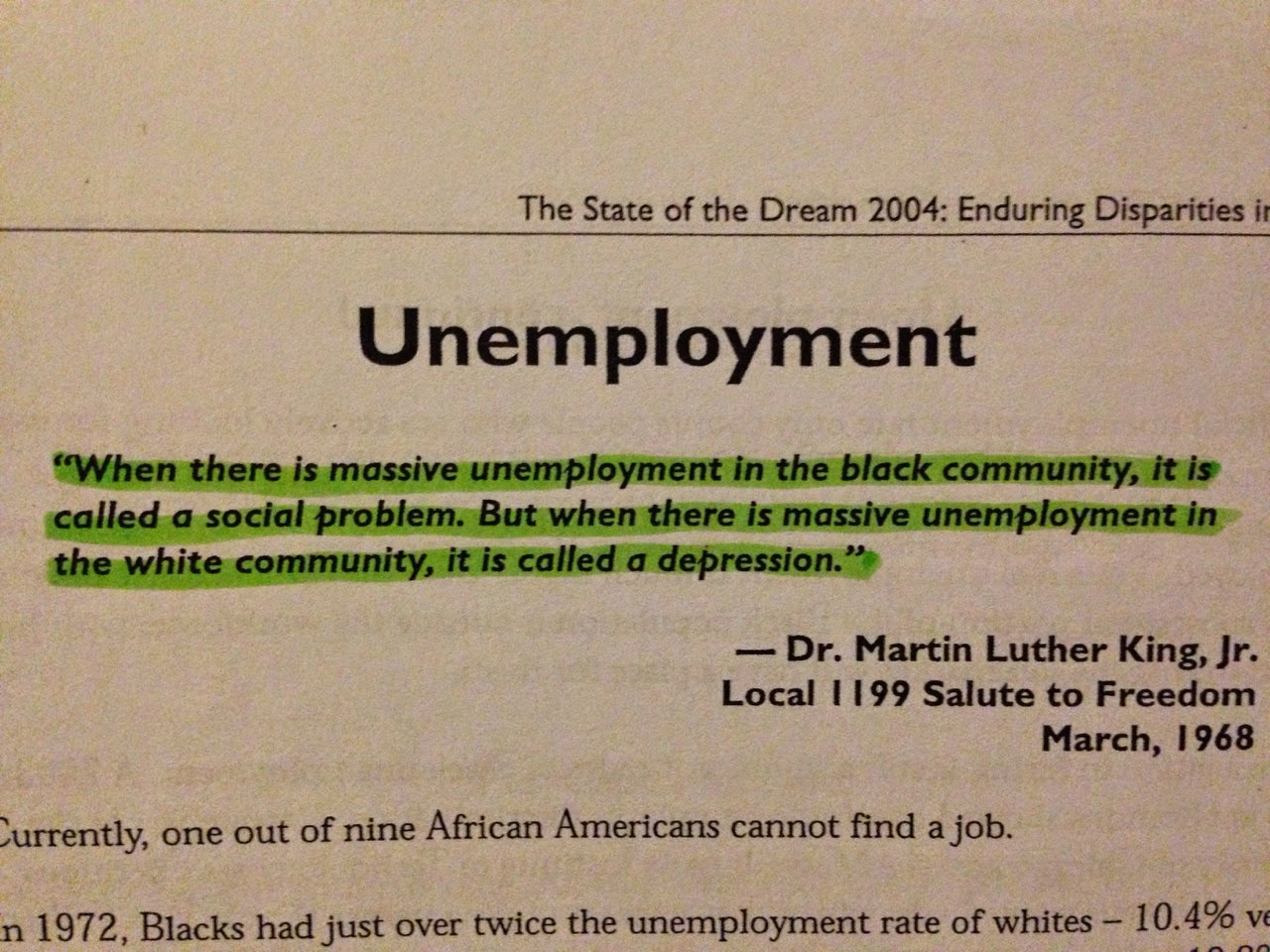 Martin Luther Quotes About Unemployment