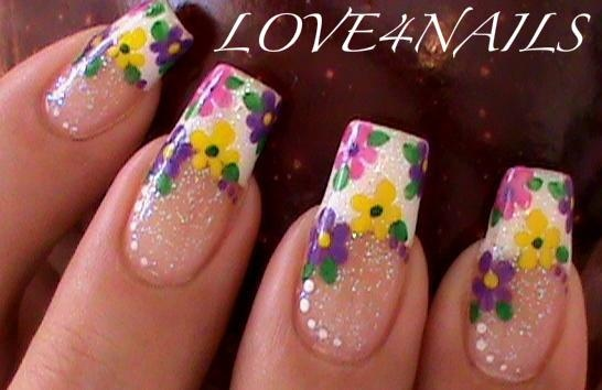 Spring Flower Nail Art Designs