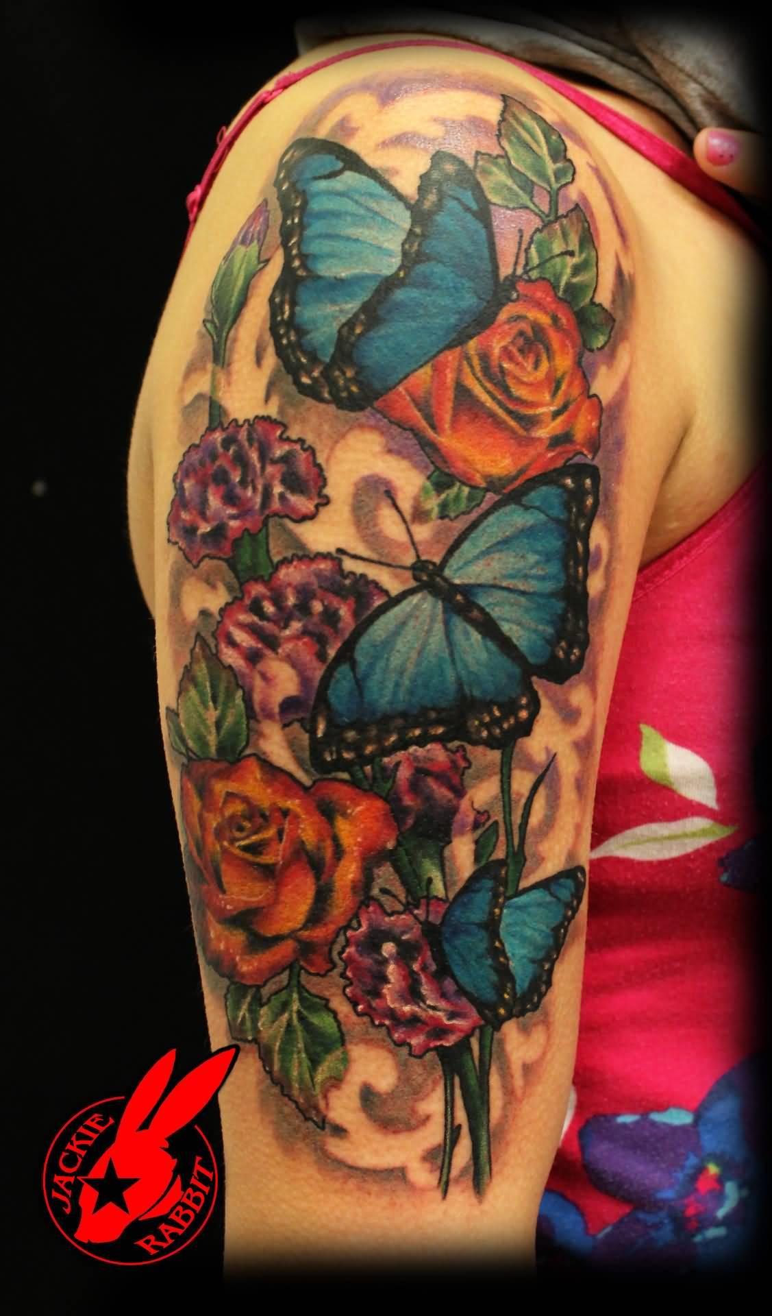 55 Butterfly Flower Tattoos