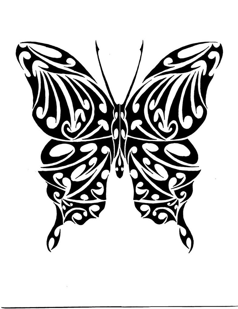 45 tribal butterfly tattoo designs