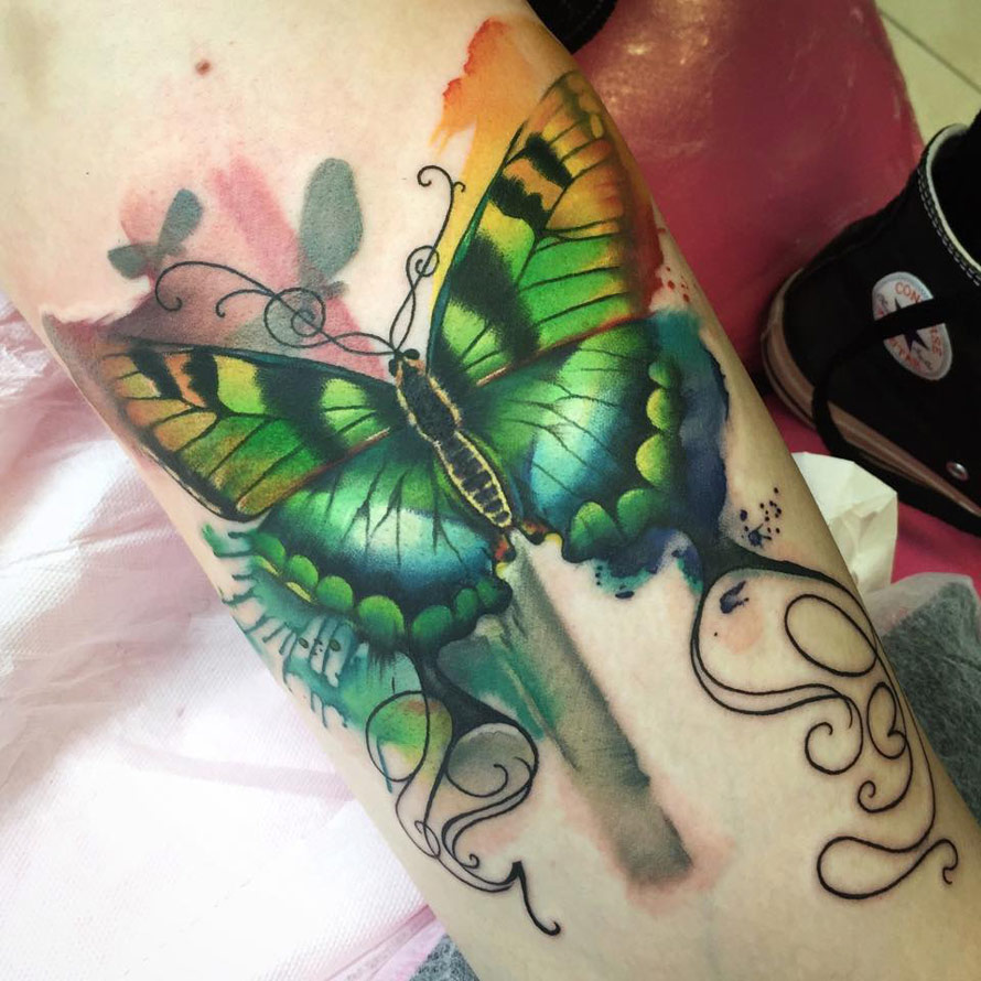 Watercolor Butterfly Tattoos: 70+ Cute Butterfly Tattoos Collection
