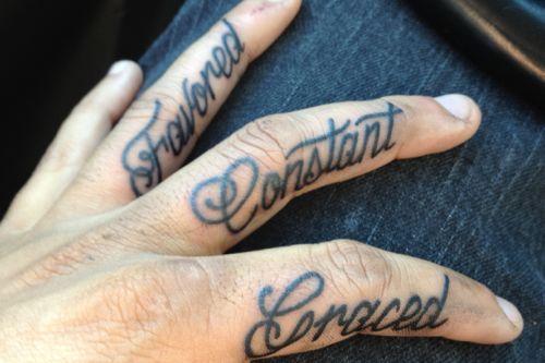 60+ Word Tattoos On Fingers