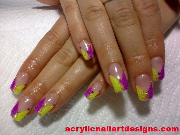 70 most beautiful gel nail art ideas yellow and pink neon gel nail art prinsesfo Images