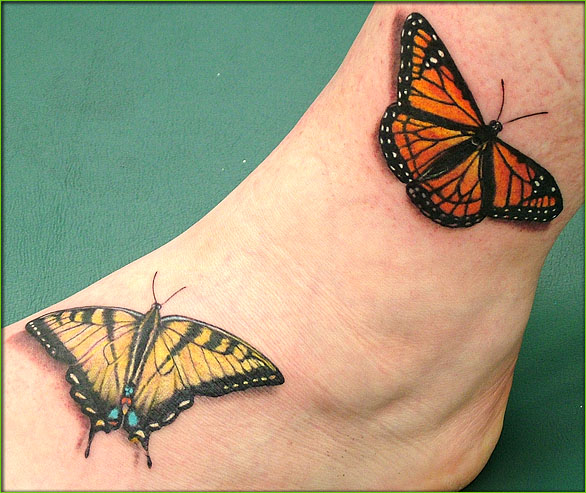 40 butterfly tattoos on outer ankle. Black Bedroom Furniture Sets. Home Design Ideas