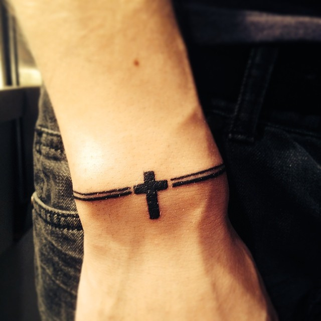 32 Cross Tattoos On Wrist For Men