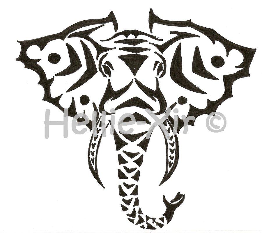 tribal elephant stencil. Black Bedroom Furniture Sets. Home Design Ideas