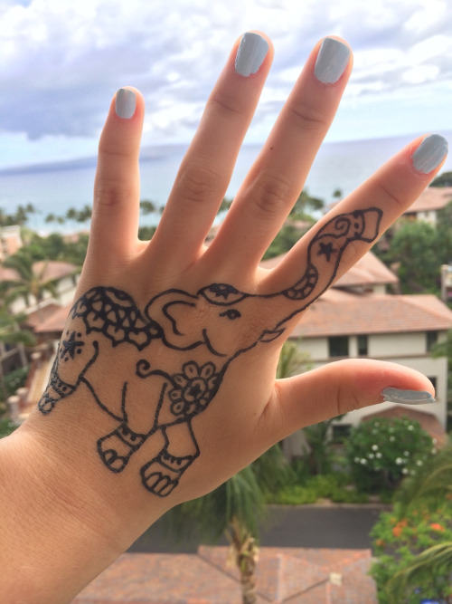 Henna Elephant Tattoo Designs