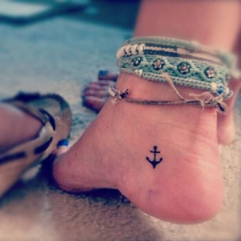 27+ Anchor Tattoos On Wrist For Girls