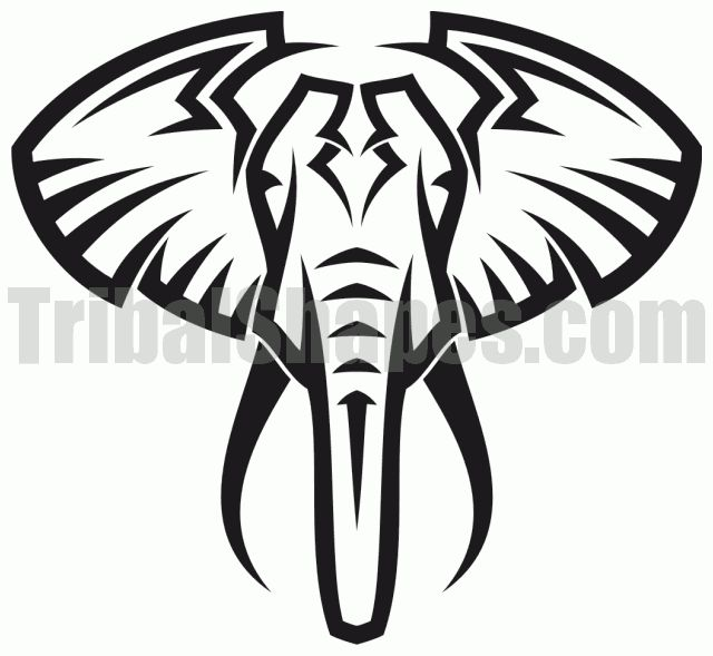 20+ Tribal Elephant Tattoos Ideas