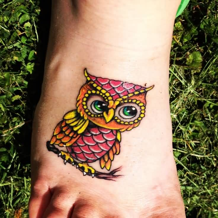 50 cute baby owl tattoos for Cute baby tattoos