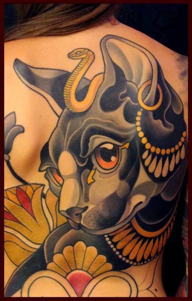 32+ Egyptian Cat Tattoos Ideas