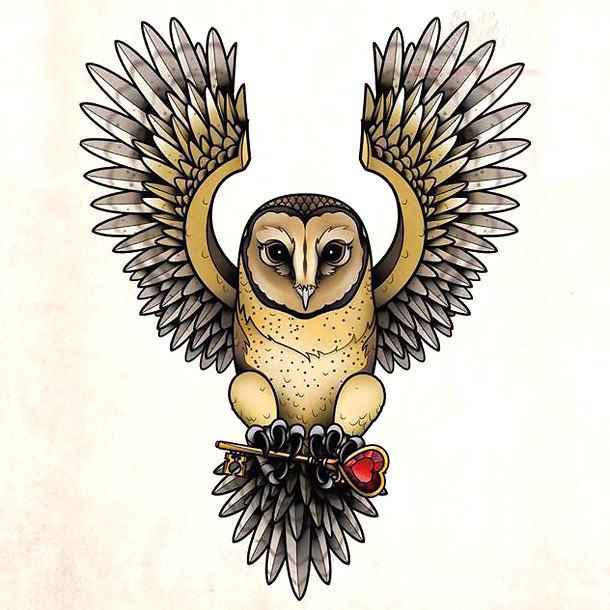 28 Owl Tattoo Designs Ideas: 28+ Flying Owl Tattoo Designs