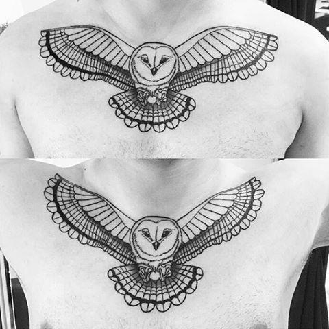 56 Best Flying Owl Tattoos