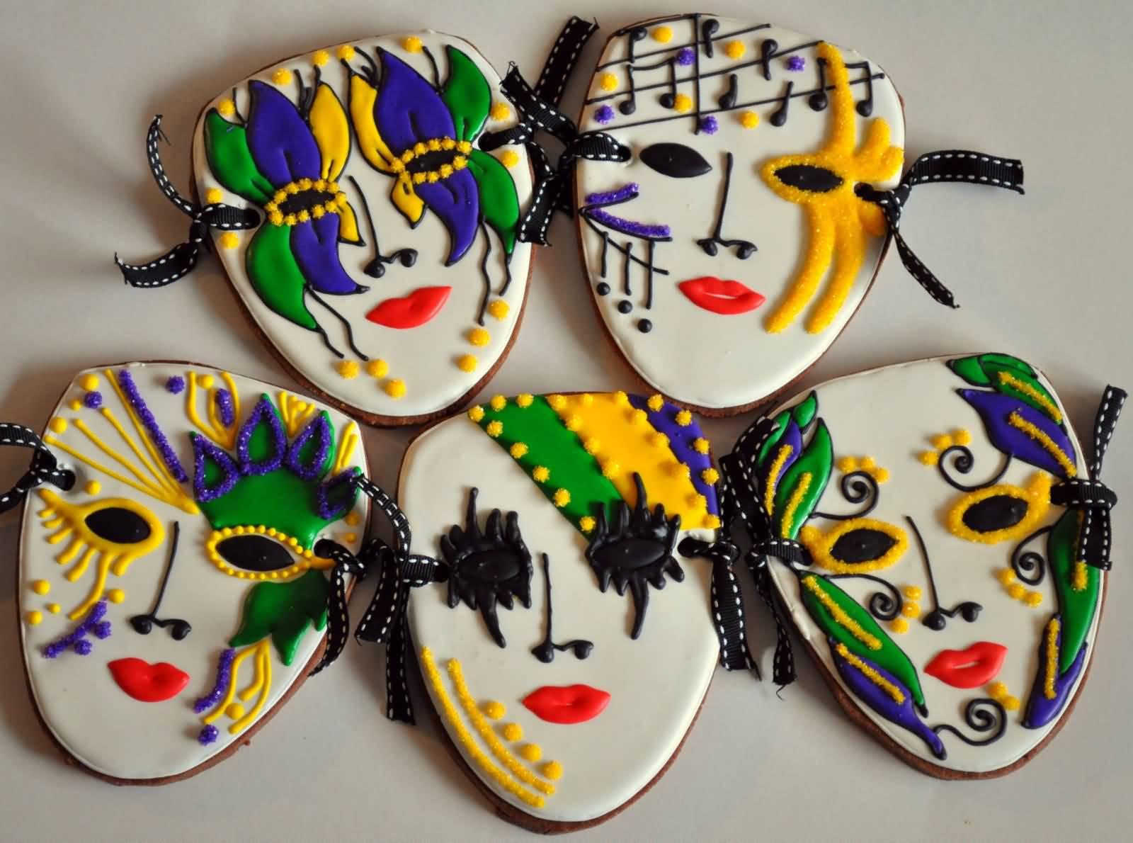 Beautiful Full Face Mardi Gras Masks