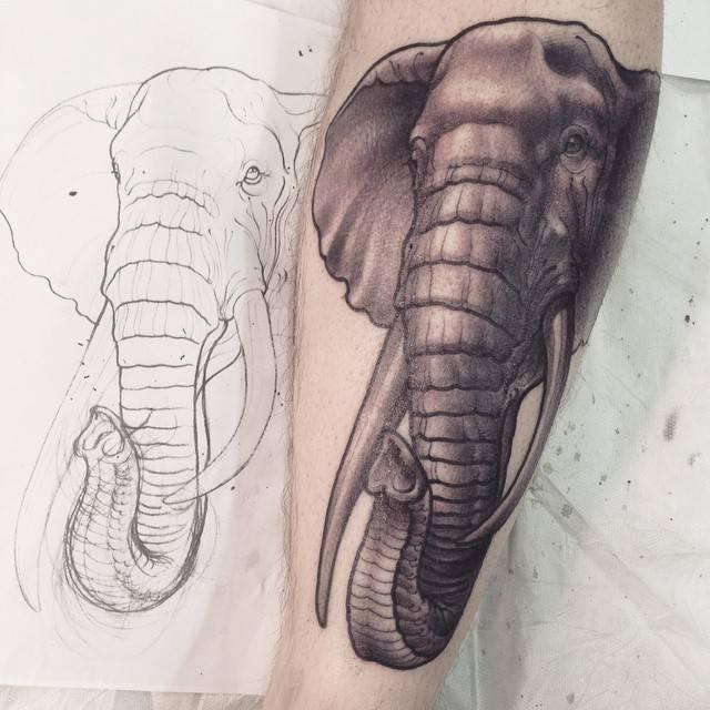 35 neo elephant tattoos. Black Bedroom Furniture Sets. Home Design Ideas