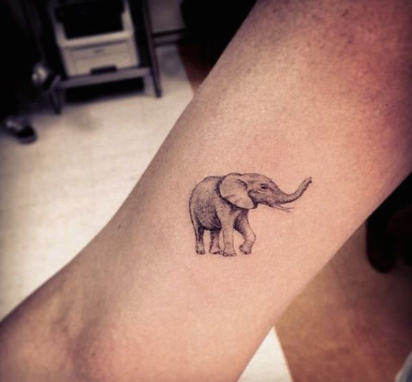 e685bcef726b5 Black And Grey Asian Elephant Tattoo Design For Leg By Dr Woo