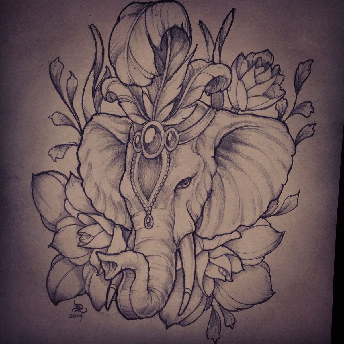 15 Elephant Head Tattoo Designs