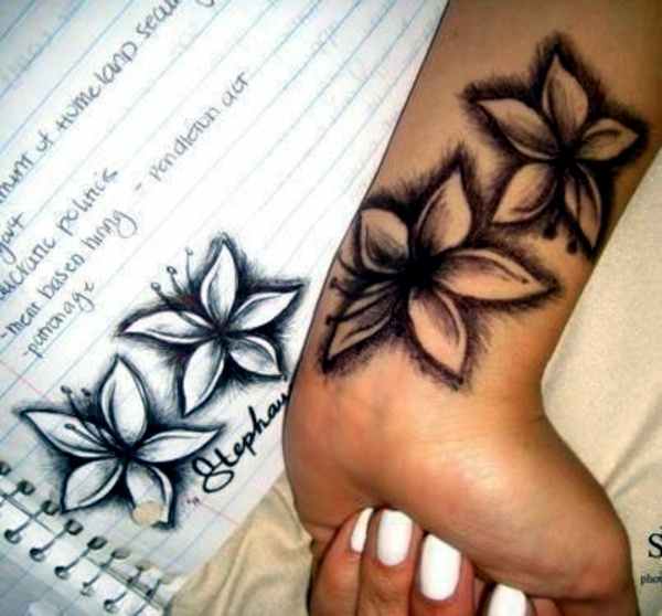 60 flowers wrist tattoos ideas. Black Bedroom Furniture Sets. Home Design Ideas
