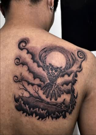 26+ Simple Flying Owl Tattoos