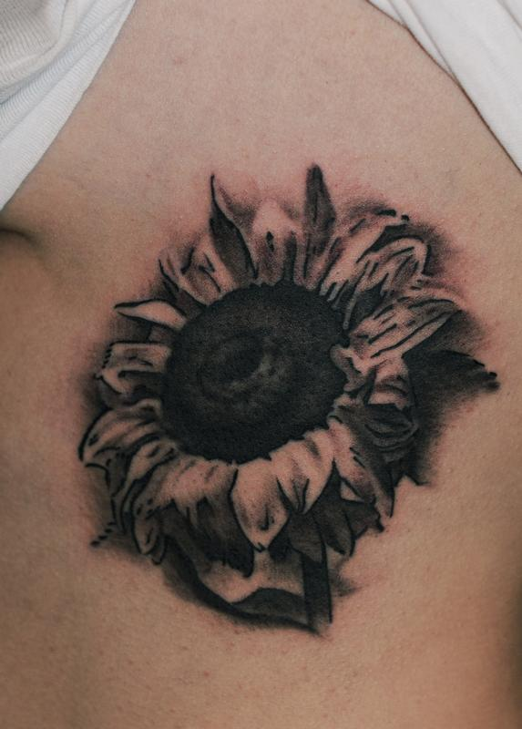 55 latest realistic sunflower tattoos