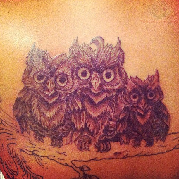 27 Owl Family Tattoos Ideas