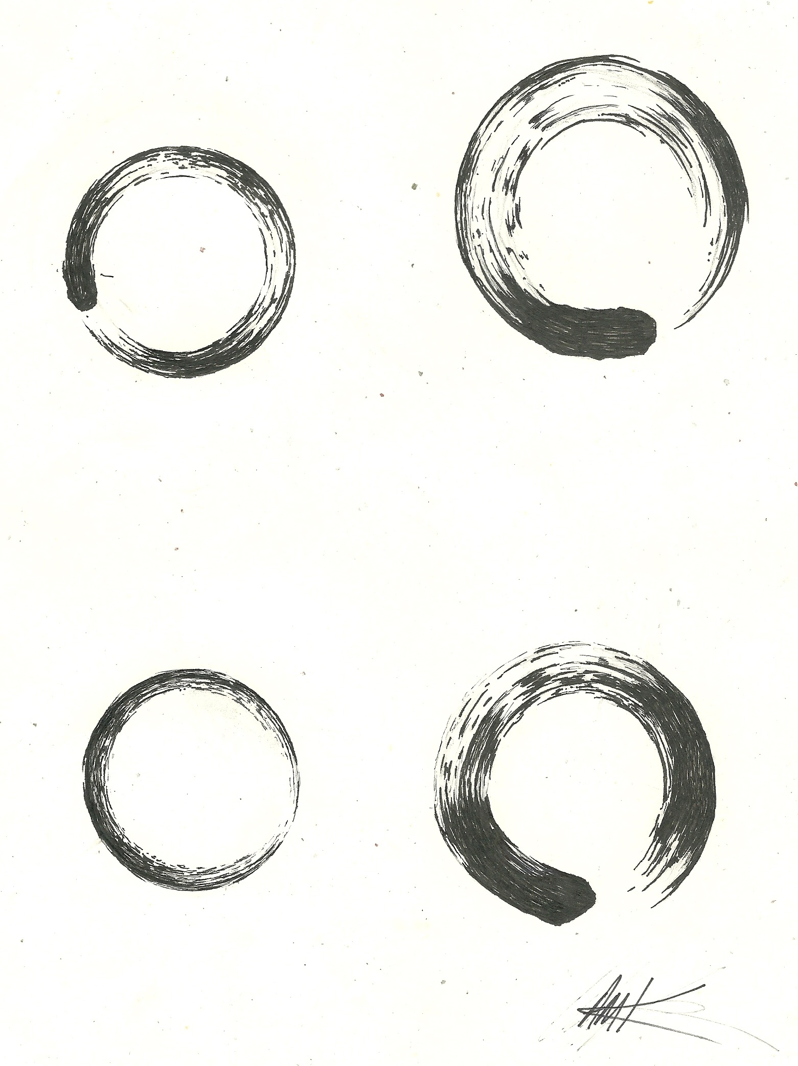 Circle Of Death Card Meanings: 12+ Zen Enso Circle Tattoos Designs