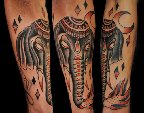 red traditional elephant - photo #12